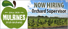 Mulrines Irish Orchards require an Orchard Supervisor to join their team.