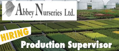 Abbey Nurseries in Thurles, Co Tipperary are Hiring a Production Supervisor
