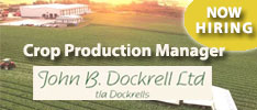 John B Dockrell Ltd Require a Crop Production Manager in Wexford