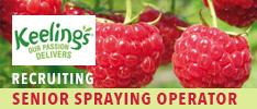 Keelings Recruiting a Senior Spraying Operator