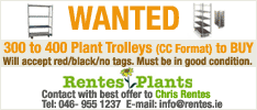 Rentes Plant Trolleys Wanted